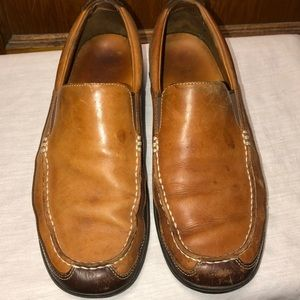 Cole Haan Men's Brown and Tan Leather Loafers